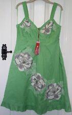 Monsoon Ario Applique Beaded Green Sleeveless Holiday Wedding Dress 16