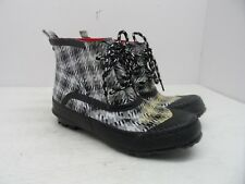 "Windriver Women's 4"" Rain Boot Duck Boot Black/White/Gray Size 6M"