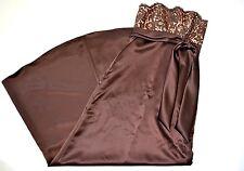 Jim Hjelm occasion womens brown/bronze strapless bridesmaid prom dress sz 4