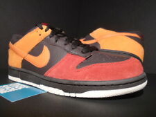 low priced 121c3 13886 08 NIKE SB DUNK LOW CL TAR BROWN ORANGE RED TOE SAIL BISON DENIM 318020-