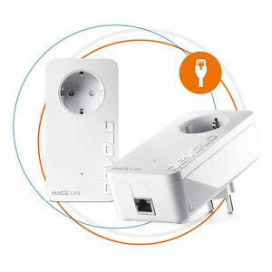 Devolo Magic 2 Starter Kit Powerline LAN Erweiterung Steckdose 2400 Mbit/s