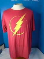 "DC COMICS SUPERHERO ""THE FLASH"" LIGHTNING BOLT LOGO T-SHIRT XXL RED"