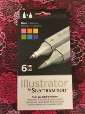 Spectrum Noir Illustrator ALCOHOL BASED Markers - 6pc Tints $14.00 FREE SHIPPING