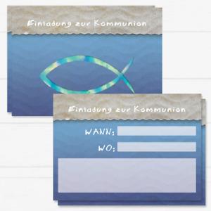 20 Kommunion Einladungskarten, Kommunion Einladung, Kommunion