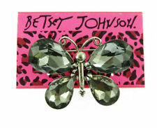 Charm Women's Brooch Pin Gift Fashion Betsey Johnson Gray Rhinestone butterfly