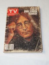ONE YEAR LATER TV AND THE JOHN  LENNON TRAGEDY Nov. 21-27th 1981
