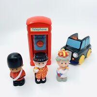 Happyland London Figure Bundle Telephone Box Taxi Queen Pretend Play Free P&P