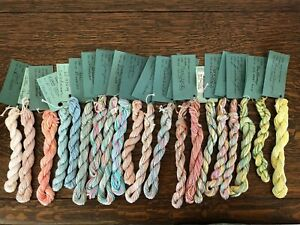 WATERCOLORS BY CARON HAND PAINTED PIMA COTTON THREAD LOT OF 20 (1)