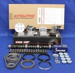 Chevy SB 350 5.7L 1968-1985 Stage 2 Master Engine Rebuild Kit Flat Tops+RV Cam++