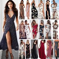 Ladies Women Summer Beach Sundress Boho Evening Party Cocktail Long Maxi Dresses