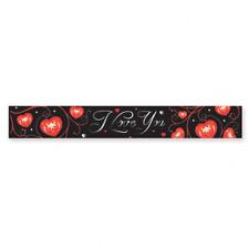 Hoja de negro que te amo Fiesta Banner Decoración Con Corazones Rojos San Valentín Decoración