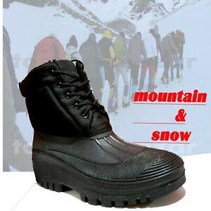 Scarponi uomo doposci impermeabili imbottiti stivali uomo caldi da neve