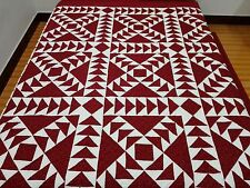 King size Machine pieced and quilted quilt #J-77Qk