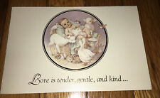 Baby With Animals Love Is Tender Gentle Kind Christmas Cards Kathy Lawrence Art