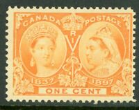 Canada 1897 Jubilee 1¢ Orange Scott #51  MNH  F529