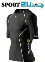 [bargain] Skins Compression A200 Mens Short Sleeve Top ( Black/Yellow ) | NEW!