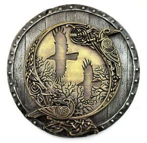 Viking decor norse ravens Huginn Muninn metal wall sculpture decoration viking
