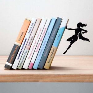 Supergirl Bookend Supergal Book Holder Black Metal New Genuine Artori Design
