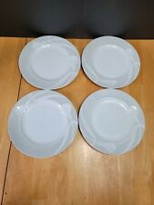 LOT of 4 Mikasa Classic Flair Gray Bread Plates White Embossed Calla Lilles