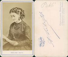 Adélina Patti, cantatrice italienne vintage CDV albumen carte de visite,  CDV,
