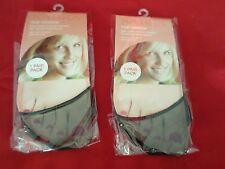 2 Pair Womens Toe Topper Cover Nylon Black Slings Mules Sandals 4-10 USA