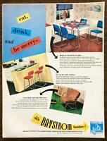 1947 Daystrom Chrome Furniture Olean NY Pasadena CA Print Ad Eat Drink Be Merry