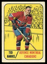 1967 68 TOPPS HOCKEY #10 TED HARRIS EX cond Montreal Canadiens Card