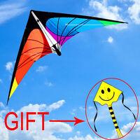 NEW 5.9ft 1.8m Stunt Power Kite Outdoor Sport fun Toys novelty dual line Delta