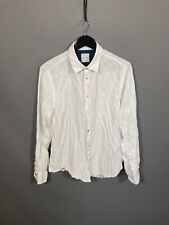 PAUL SMITH CORD Shirt - Size Large - White - Great Condition - Men's