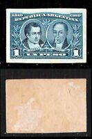 Argentina - 1910 - 1 Pesos su cartoncino - Prova colore - non dentellato