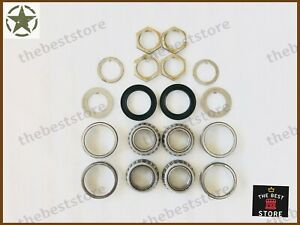 FRONT WHEEL BEARING KIT ASSEMBLY JEEP & WILLYS WITH DANA 27(SEE DESCRIPTION)