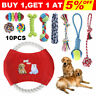 10X Dog Toys Cat Pet Puppy Toy Set Gift Bite Ball Chew Rope Durable Training