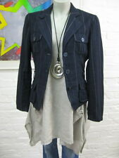 ESPRIT Collection schicker Blazer Gr.36, Navyblau gestreift, m. Leinen, Langarm