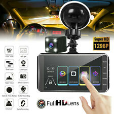 4'' Dash Cam Recorder Dual Lens Camera HD 1080P Car DVR Vehicle Video Sensor