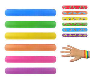 Kids Slap Bands/Snap Band Bracelet Silicone Wristband Dinosaur Party Bag Fillers