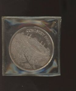 Chicago White Sox Comiskey Park April 1991 Coin .999 Fine Silver 1 Troy Oz