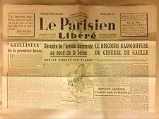 JOURNAL QUOTIDIEN DE LA LIBERATION / LE PARISIEN LIBERE N° 9   30/08/1944