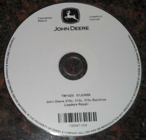 JOHN DEERE 210C 310C 315C BACKHOE LOADER TECHNICAL REPAIR MANUAL DVD/CD TM1420