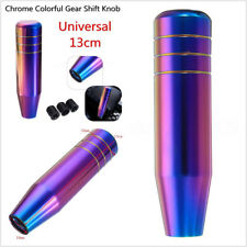 13cm Neo Chrome Colorful Manual Transmission Autos Gear Shift Knob & 3 Adapters