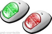 12V LED NAVIGATION LIGHTS BOAT PORT & STARBOARD - WHITE 12 volt p and S