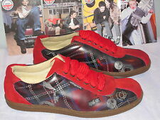 NEW UNDERGROUND SHOES TARTAN CHAOS UK 7 BAD RELiGiON DEViL ANARCHY SNEAKERS M8