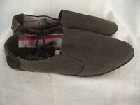 BNWT Teenage Boys Mens Size 7 Rivers Choc Brown Slip On Style Casual Shoes