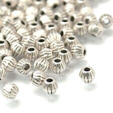 20 X 4 mm Bicono de Metal Espaciador Perlas de Plata Tibetana