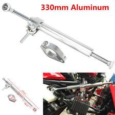 Universal Silver 330mm CNC Aluminum Motorcycle Steering Damper Fork Stabilizer
