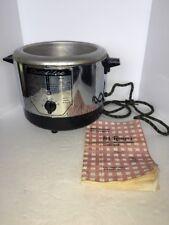 vintage caddilac automatic fryer/ cooker Model rf100 W/ 81 Recipes Cookbook