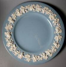 "WEDGWOOD Cream on Lavender PLAIN EDGE  DINNER PLATE 10 3/4"" (rim is 2"" wide)"
