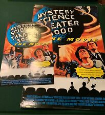 MST3K Mystery Science Theater 3000 the Movie Rare 2-sided Marquee Poster! +bonus