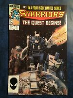 "MARVEL Comics, STARRIORS ""The Quest Begins!"", #1, November 1984."