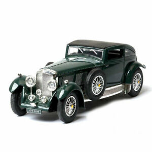 Vintage Bentley 8-Litre 1930 1:32 Scale Model Car Diecast Gift Toy Vehicle Green