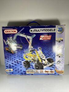 Meccano Erector Multi models Set 25 Models 6023958 510 Pieces *READ* Complete